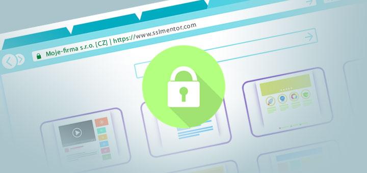 Zobrazení EV SSL v prohlížečích