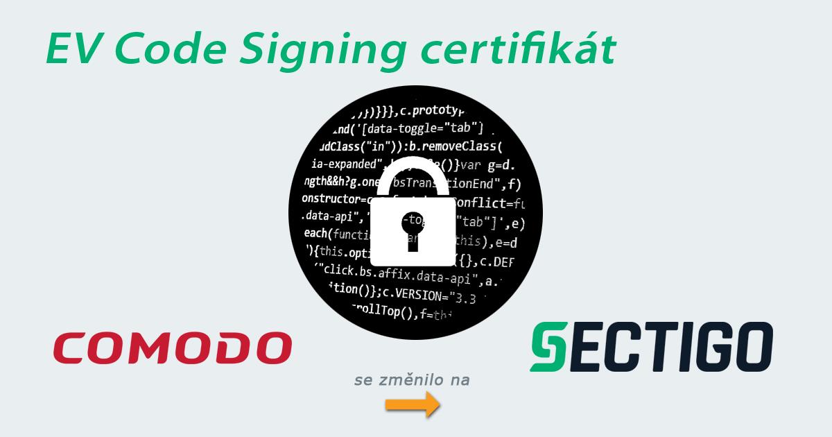 Comodo EV Code Signing certifikát