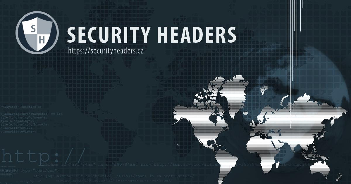 Nový projekt SecurityHeaders.cz